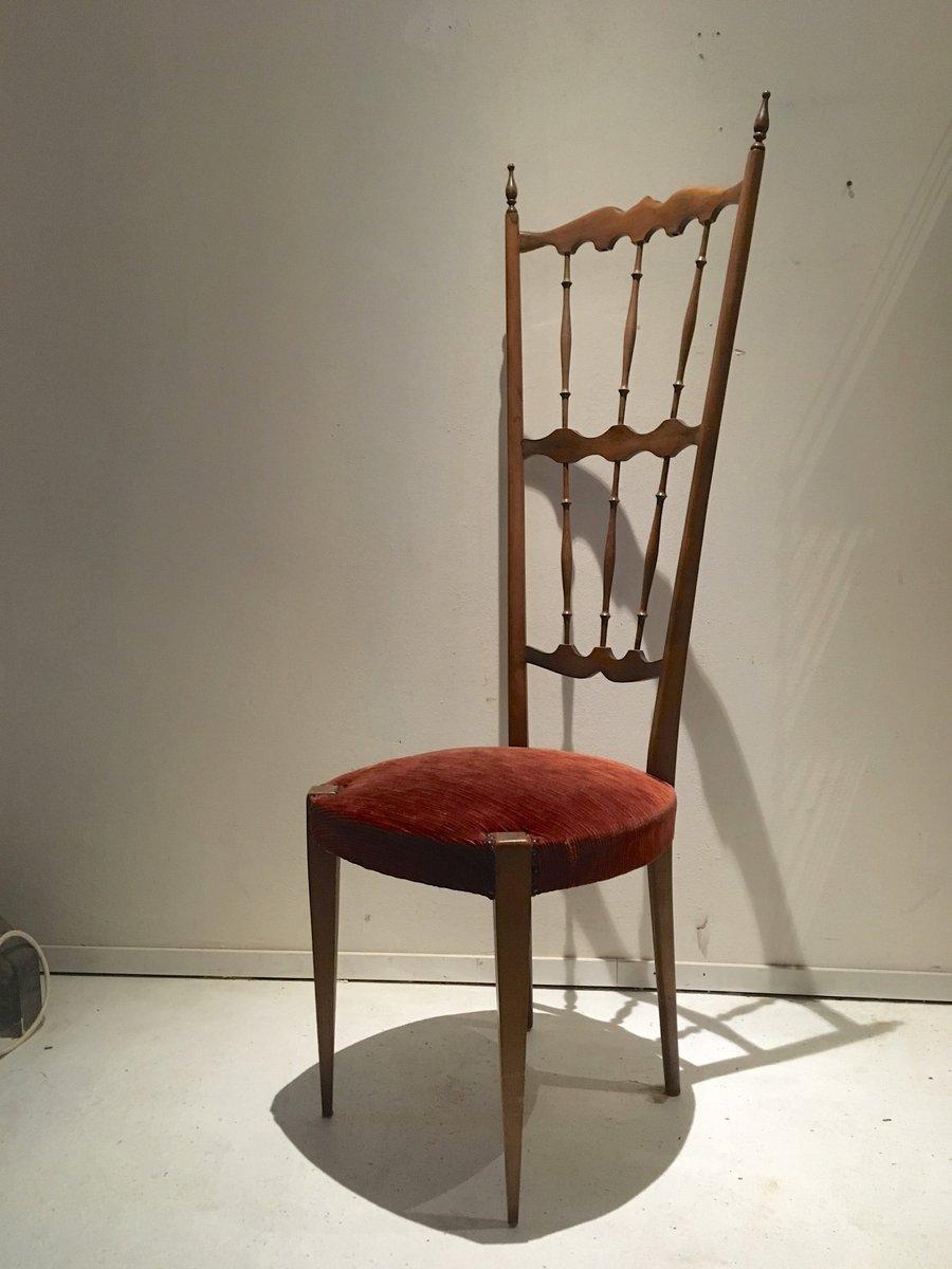 Sedia con schienale alto chiavari italia anni 39 40 in for Sedia design anni 40