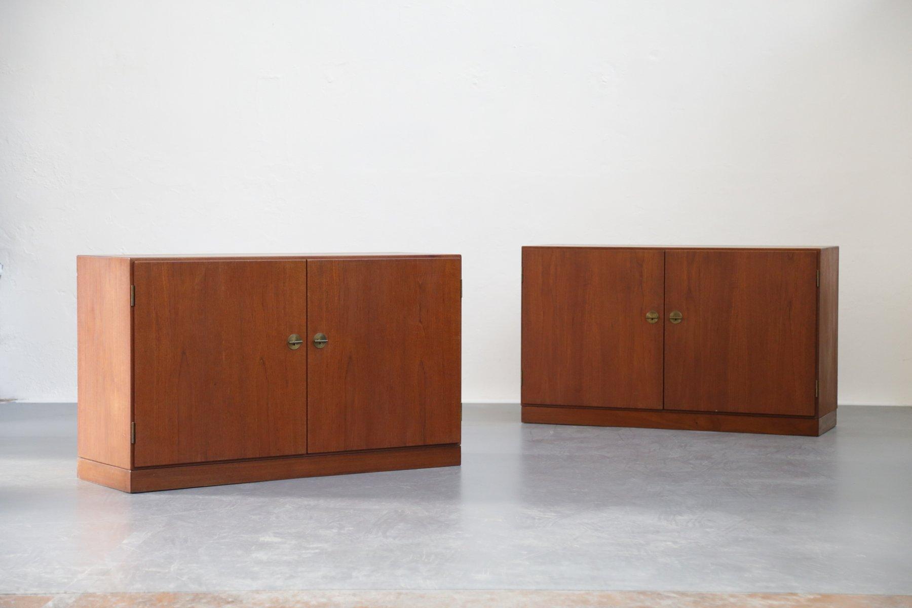 d nische vintage schr nke von borge mogensen 2er set bei pamono kaufen. Black Bedroom Furniture Sets. Home Design Ideas