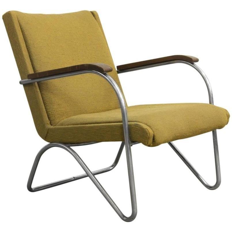 Gelber Sessel von L.C. Van Der Vlugt für Brinkman & Van Der Vlugt, 193...