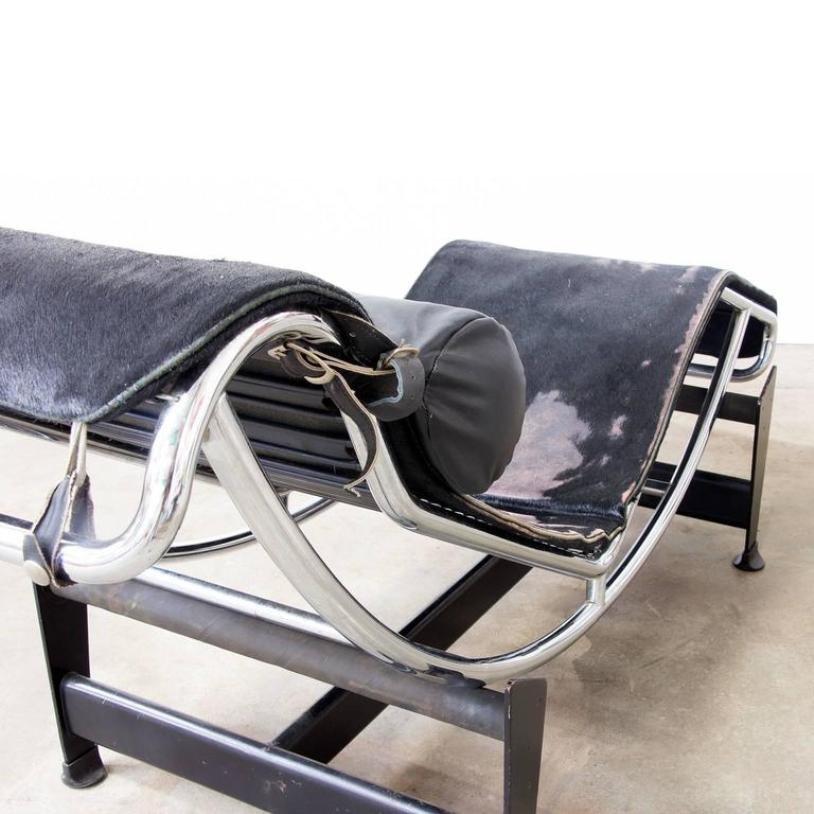 Chaise Longue Lc 6 Di Le Corbusier Per Cassina Anni 60