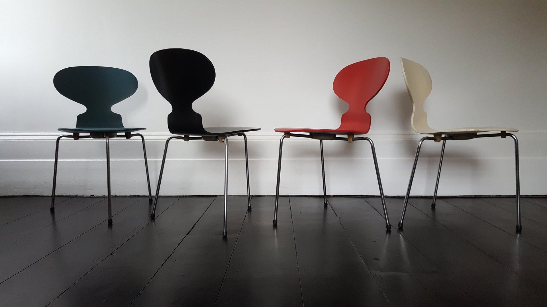 Modell 3100 Ant Chair Stühle Von Arne Jacobsen Für Fritz Hansen