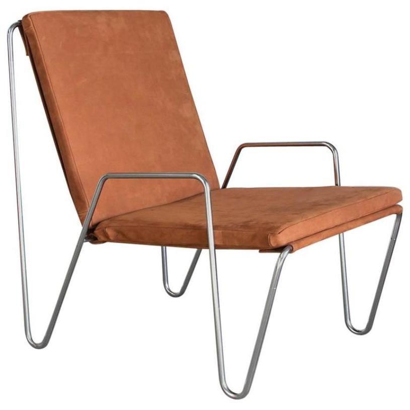 vintage bachelor stuhl aus wildleder von verner panton f r. Black Bedroom Furniture Sets. Home Design Ideas