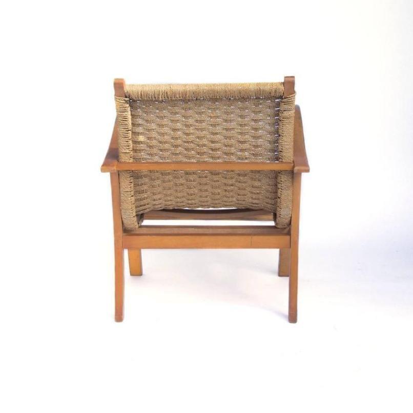 sessel aus holz seil von v d 1960er bei pamono kaufen. Black Bedroom Furniture Sets. Home Design Ideas