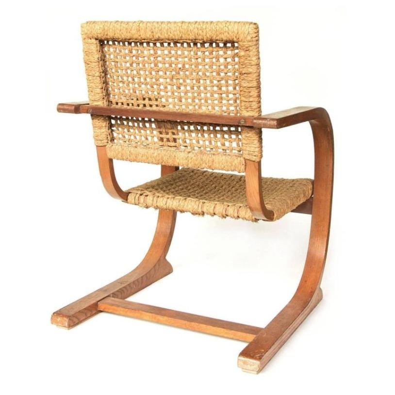 vintage seilschlinge sessel mit hoher r ckenlehne von bas. Black Bedroom Furniture Sets. Home Design Ideas