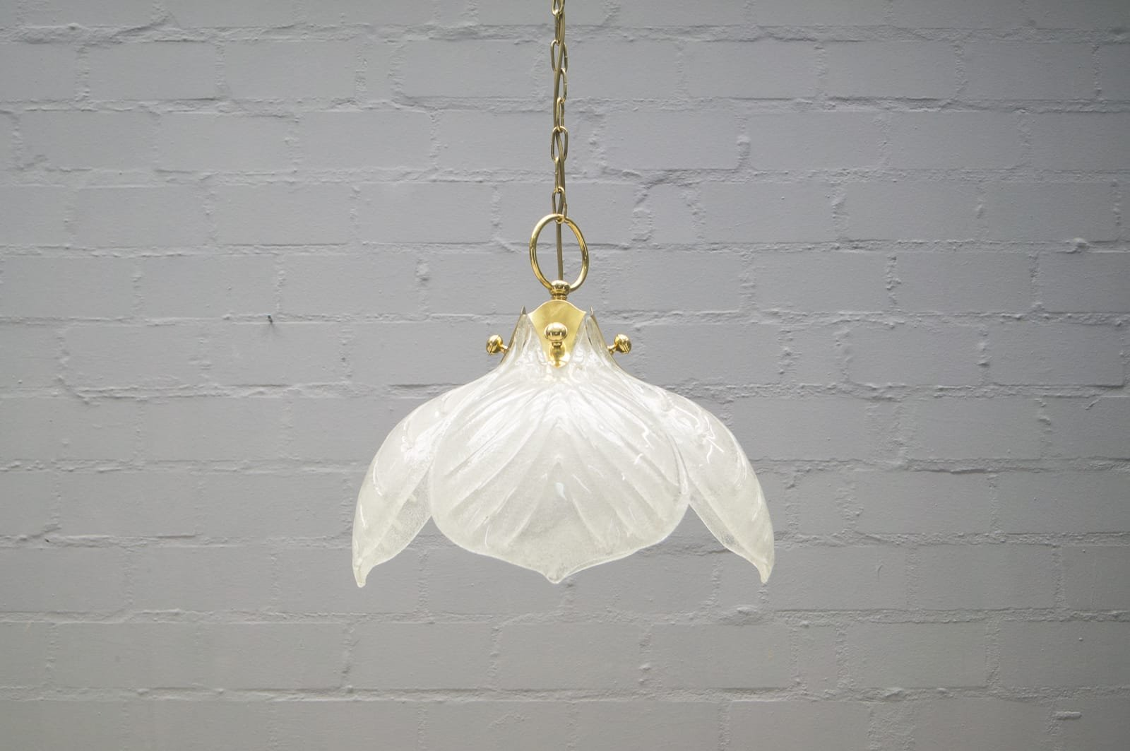 Vintage Murano Glas Lampe mit Vier Blättern von Kaiser Leuchten