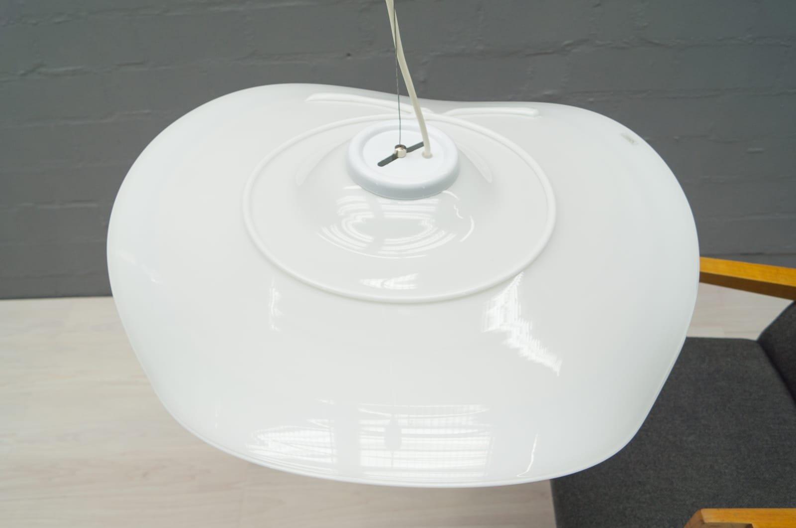 lampe vintage blanche en verre de murano en vente sur pamono. Black Bedroom Furniture Sets. Home Design Ideas
