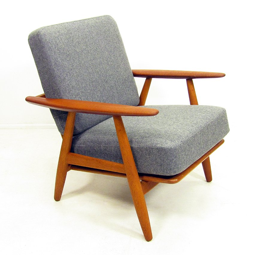chaise cigar ge 240 par hans wegner en vente sur pamono. Black Bedroom Furniture Sets. Home Design Ideas