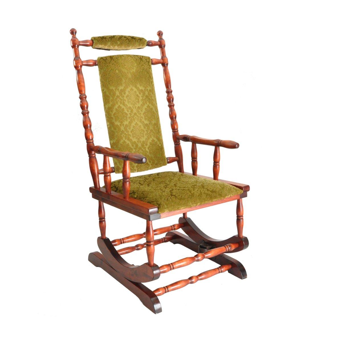 chaise bascule scandinave en bois 1950s en vente sur pamono. Black Bedroom Furniture Sets. Home Design Ideas