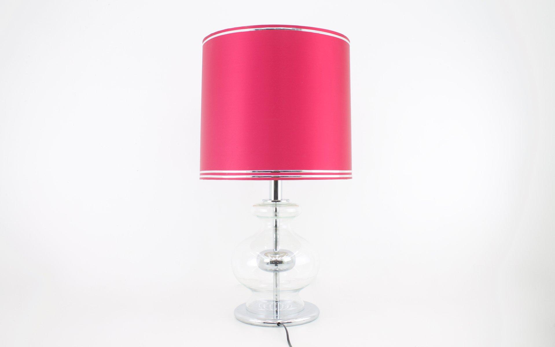 Chrom & Glas Tischlampe von Richard Essig, 1970er