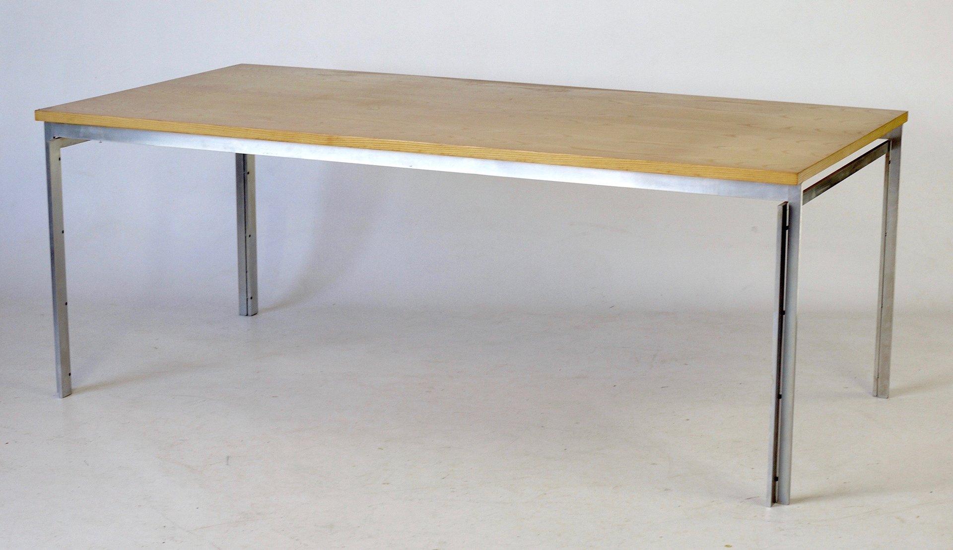 Modell PK55 Eschenholz & Stahl Tisch von Poul Kjaerholm, 1970er