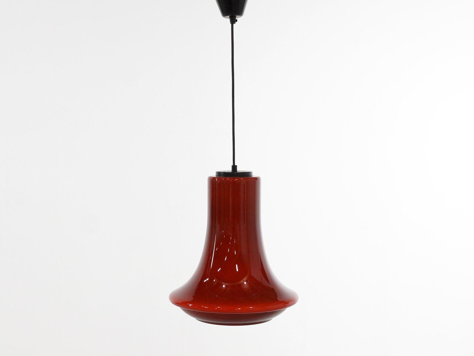 Glockenförmige Vintage Glas Hängelampe