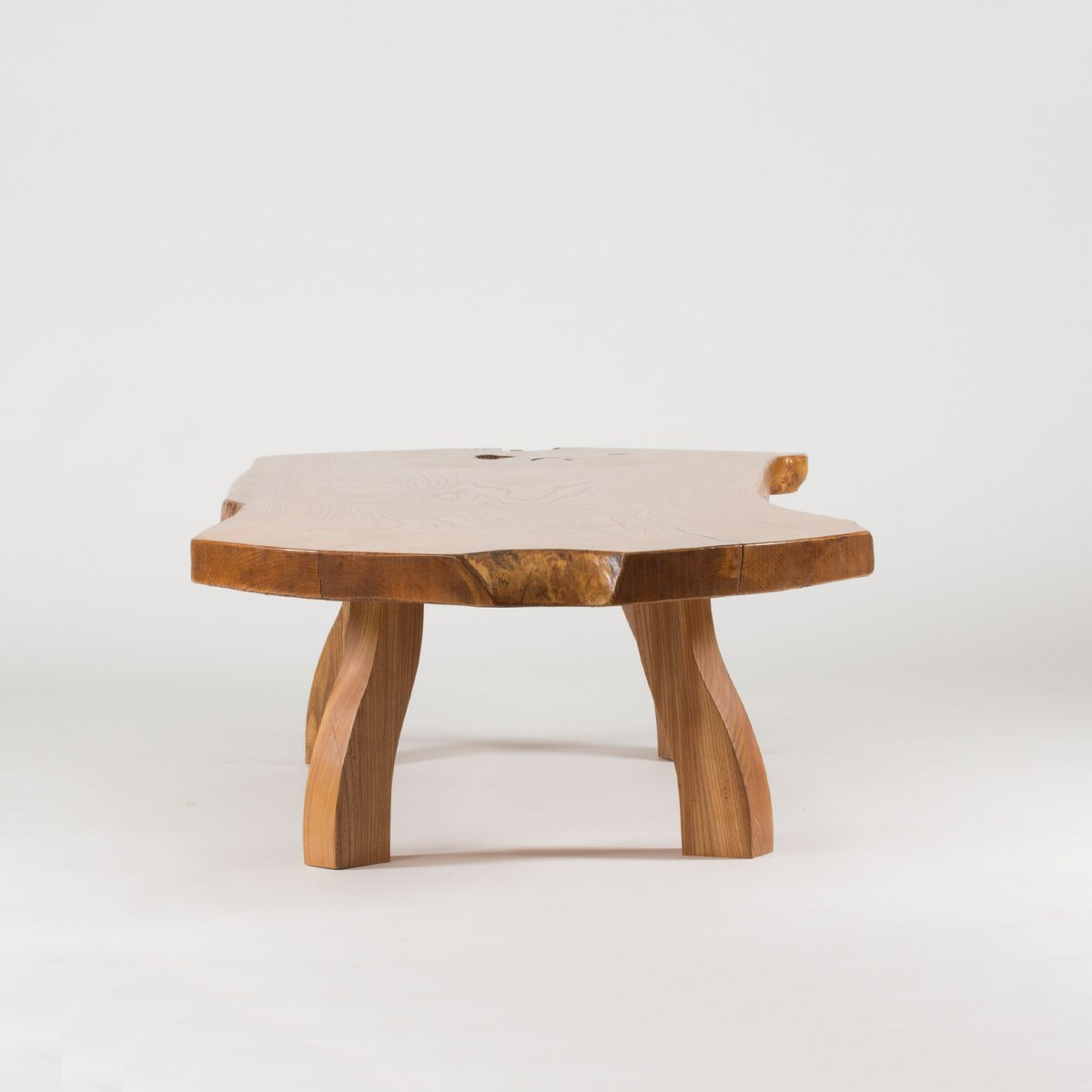 Pine Coffee Table Uk: Pine Slab Coffee Table By C.A. Beijbom, 1960s For Sale At