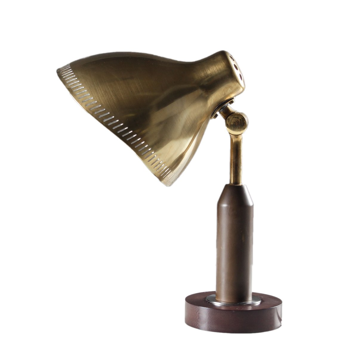Messing Tischlampe von Ateljé Lyktan, 1940er