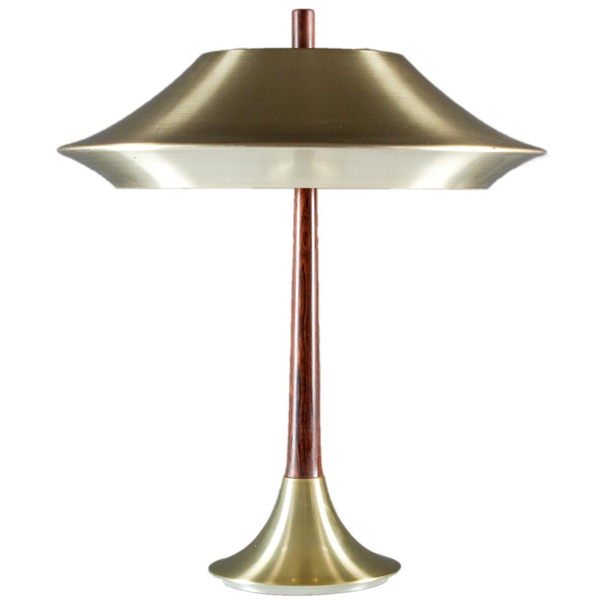 Dänische Tischlampe aus Palisander & Metall, 1960er
