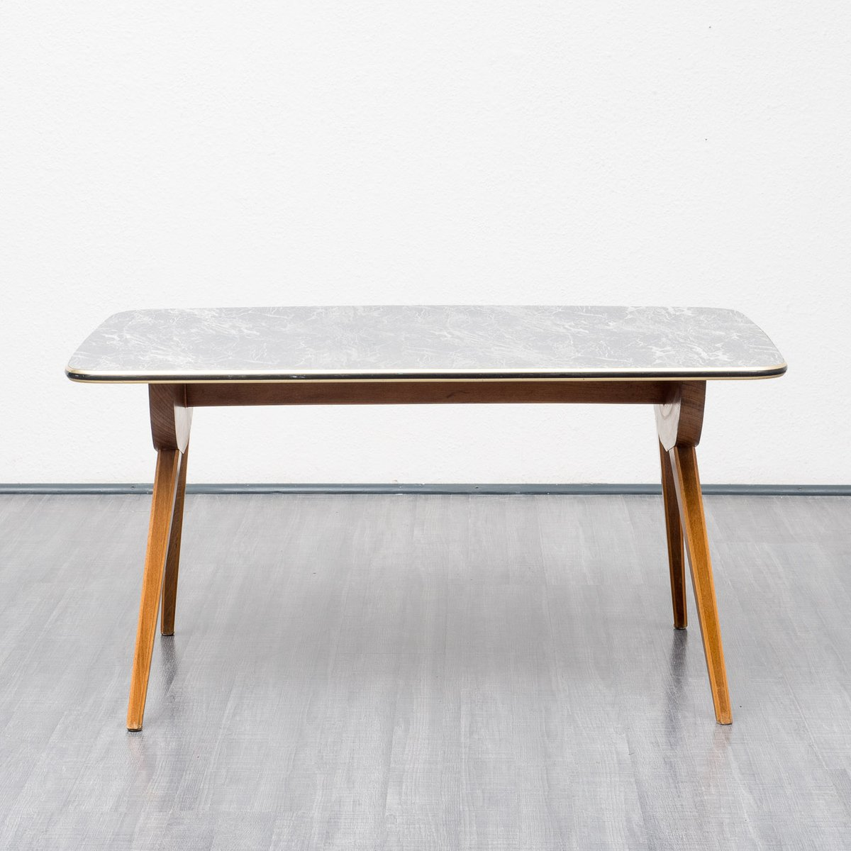 Vintage Coffee Table With Scissor Legs, 1950s For Sale At
