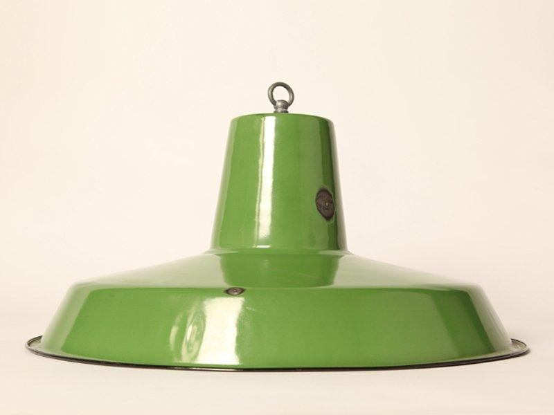 Grün Emaillierter Vintage Lampenschirm