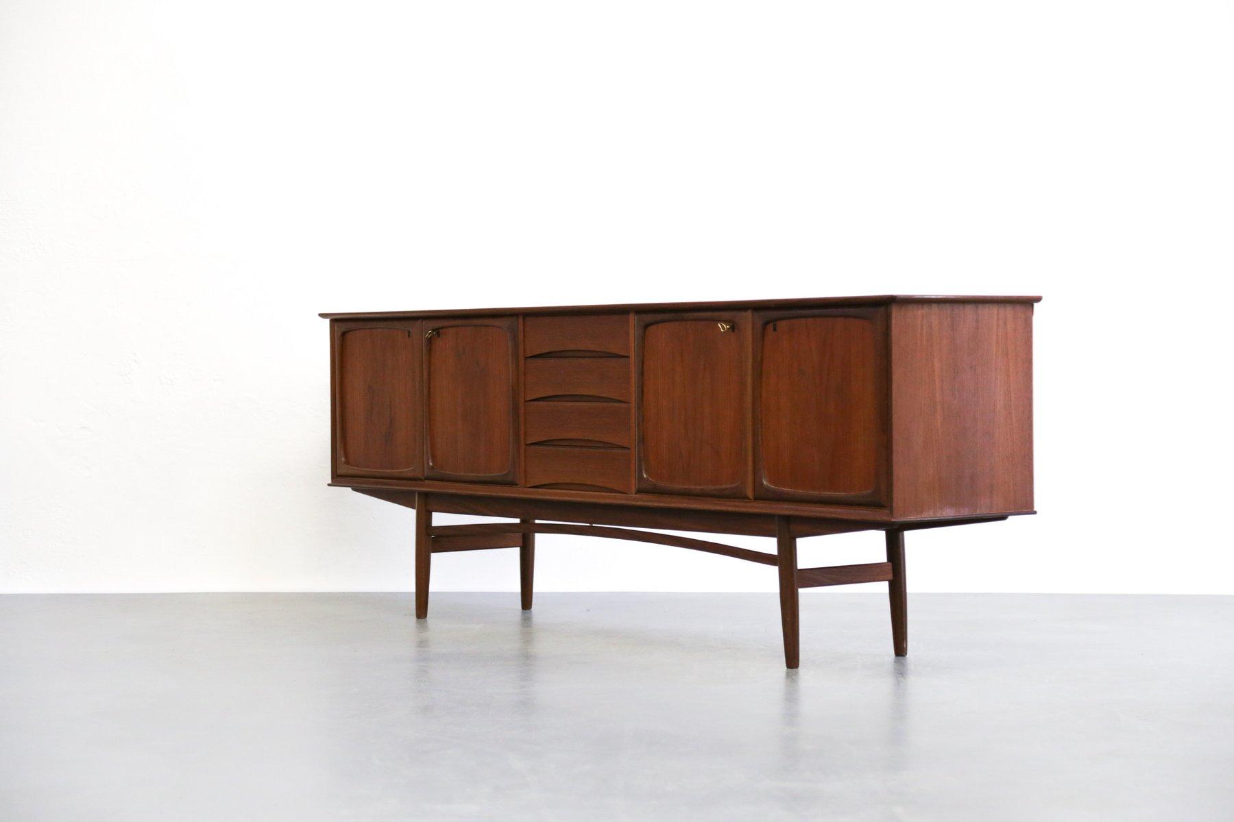 enfilade en teck par rastad relling pour gustav bahus 1960s en vente sur pamono. Black Bedroom Furniture Sets. Home Design Ideas