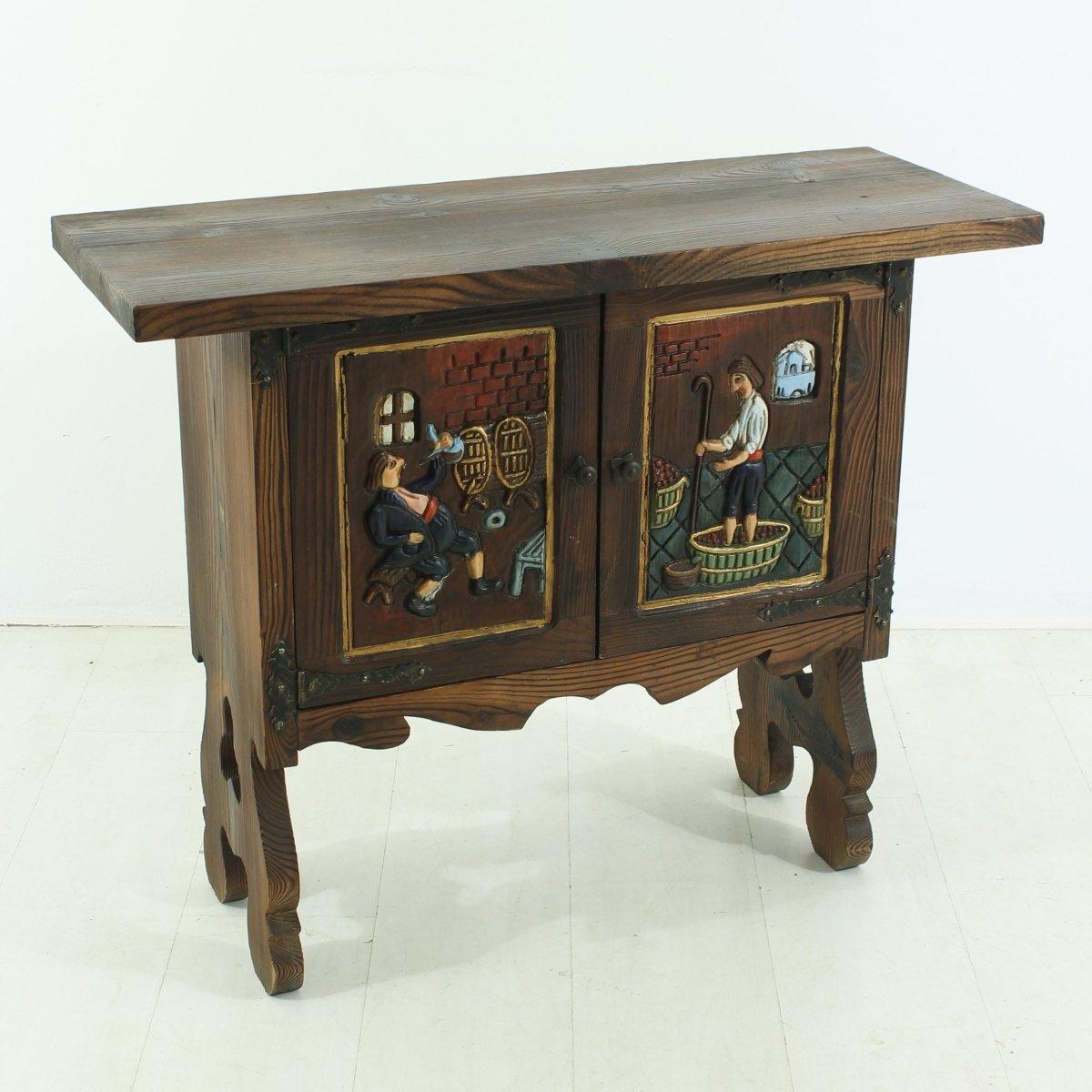 petit meuble d 39 appoint rural 1930s en vente sur pamono. Black Bedroom Furniture Sets. Home Design Ideas