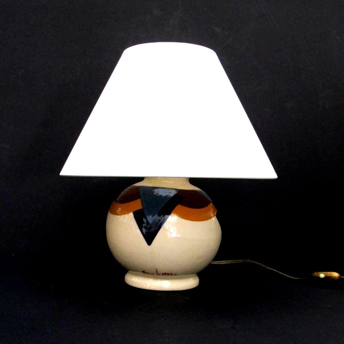 Art Deco Tischlampe von Simone Larrieu für Larrieu, 1930er