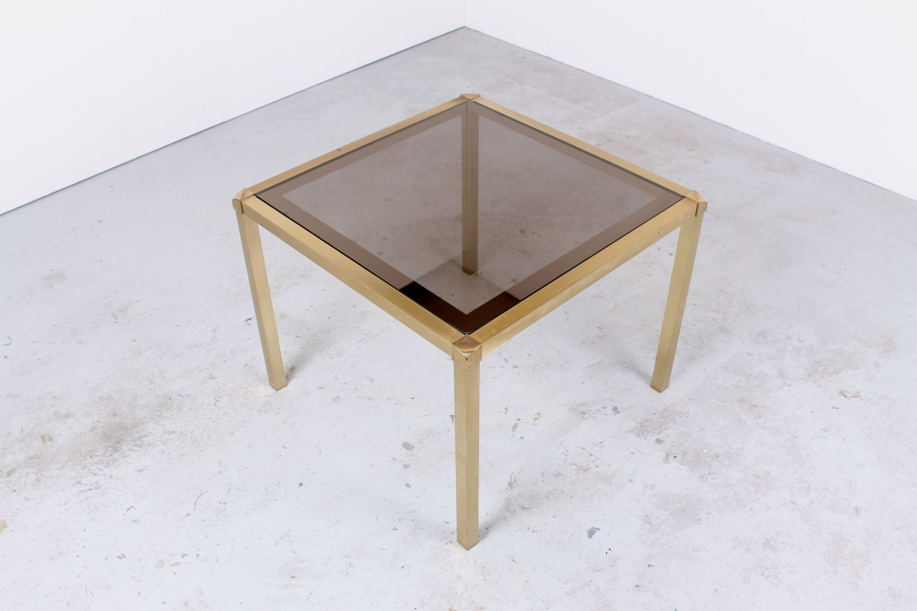 Hollywood Regency Style Brass And Glass Tail Table