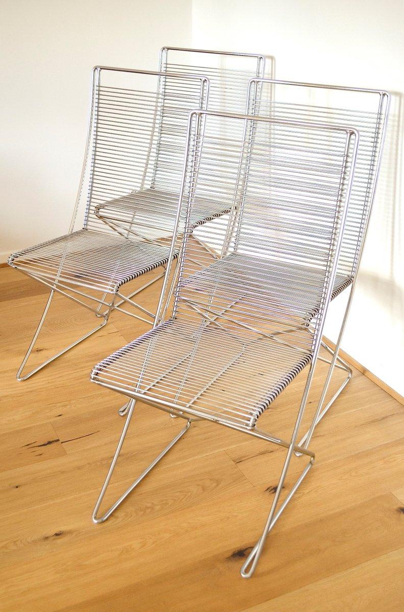 Vintage Metall Stühle von Till Behrens für Meyer Metallmöbel, 4er ...