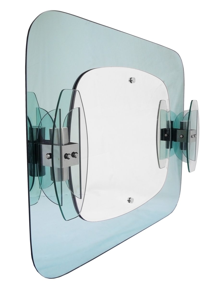 Italian Bathroom Mirror with Sconces from Mazzega, 1970s for sale at ...