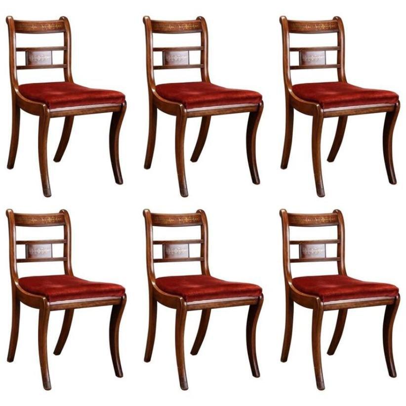 Englische Palisander & Mahagoni Stühle 6er Set Bei Pamono