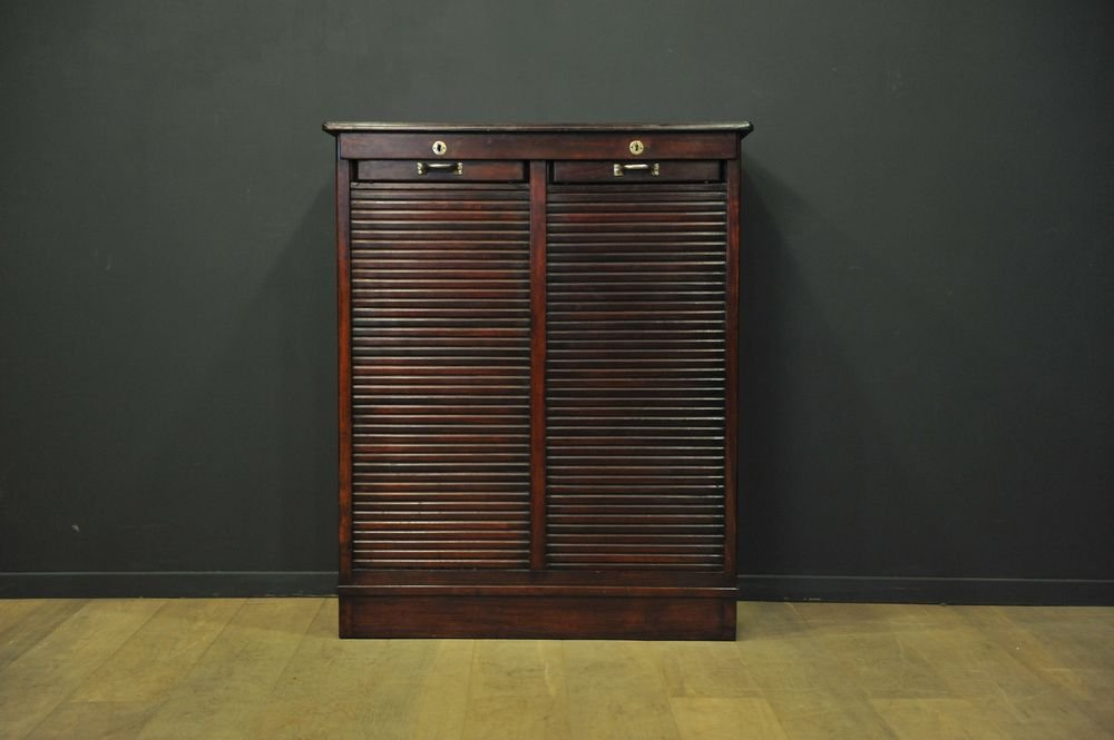 Edwardian Double Tambour Door Cabinet 1905 For Sale At Pamono