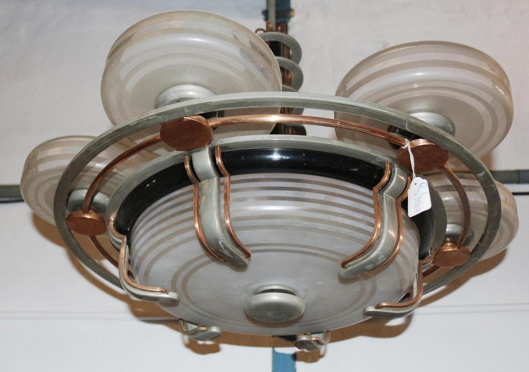 Art deco ufo skyscraper chandelier 1920s 6 price 11766 00 regular price 15226 00