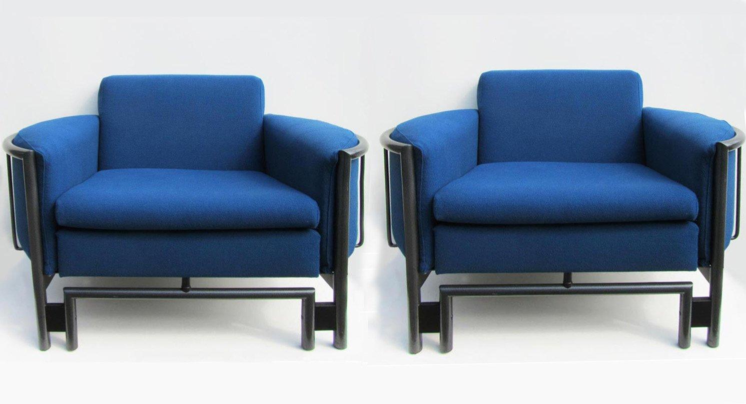 Postmoderne Lounge Armlehnstühle, 1980er, 2er Set