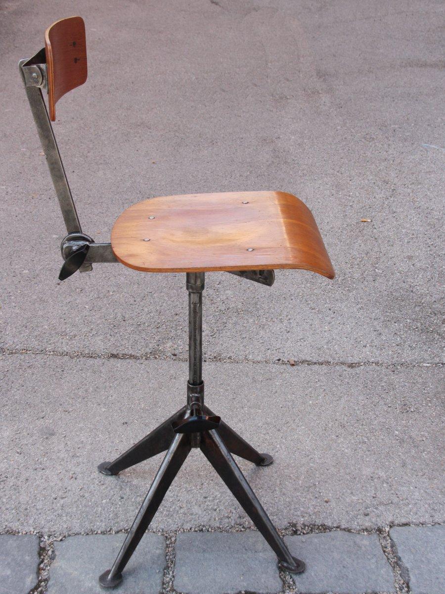 Sedia vintage da ufficio di jean prouv in vendita su pamono for Sedia ufficio vintage