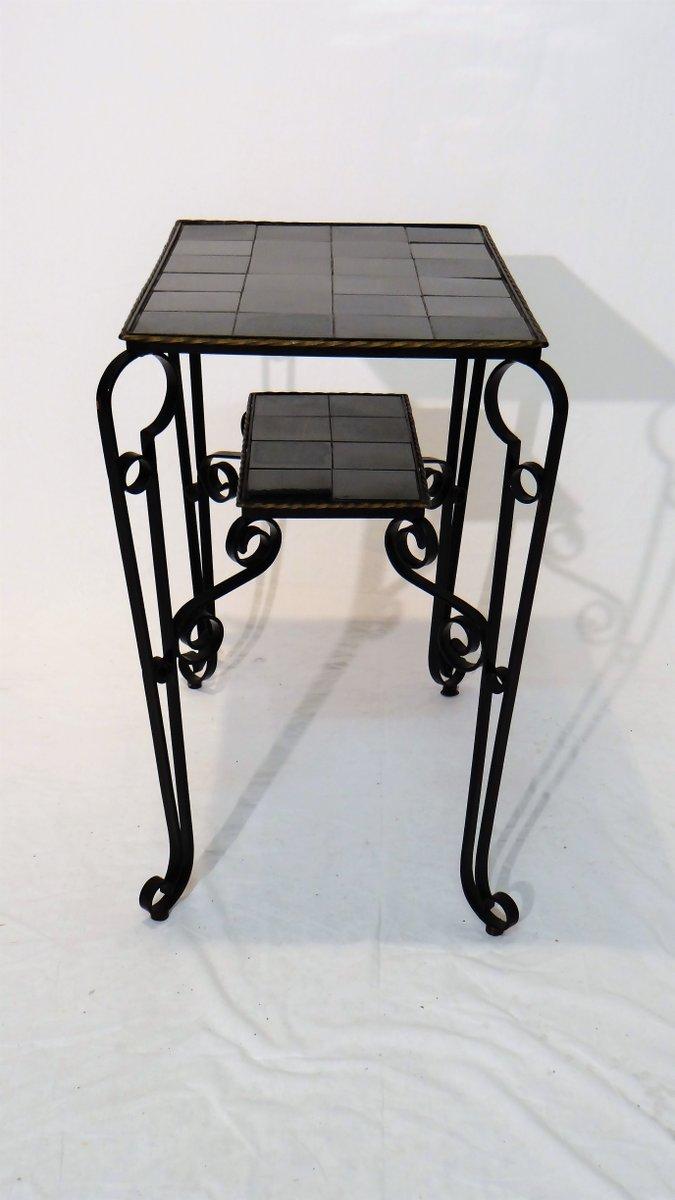 table d 39 appoint noire vintage avec pieds arqu s en vente sur pamono. Black Bedroom Furniture Sets. Home Design Ideas