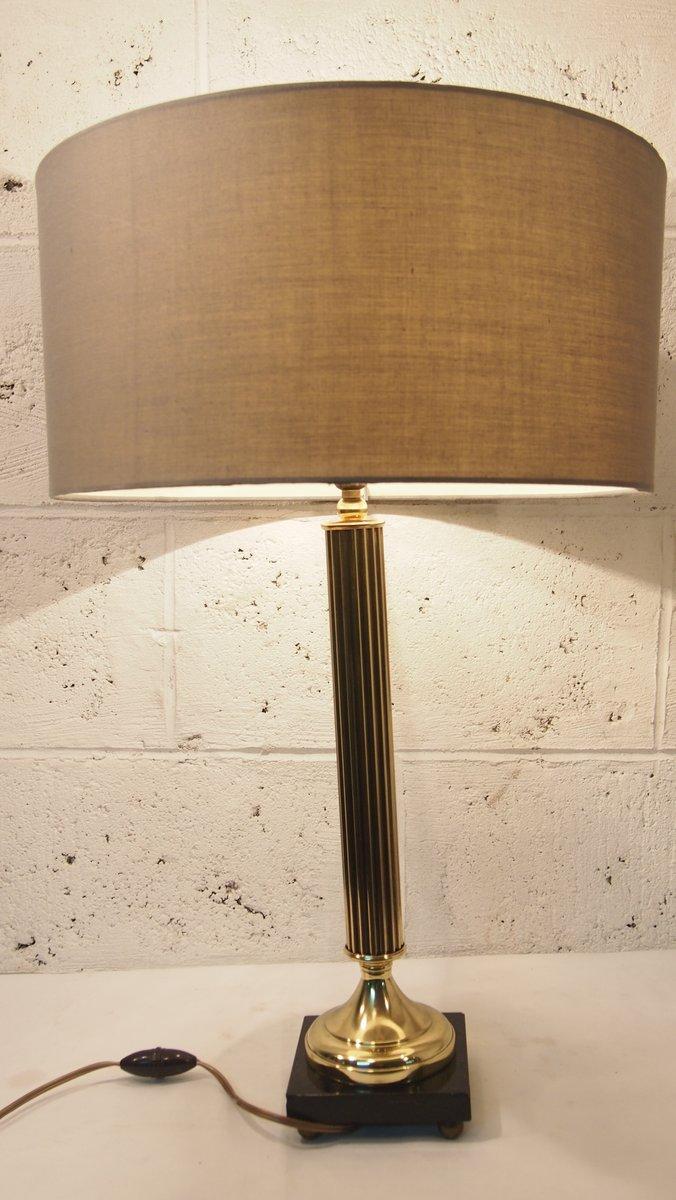 Vintage Empire Bronze Tischlampe von Arlus