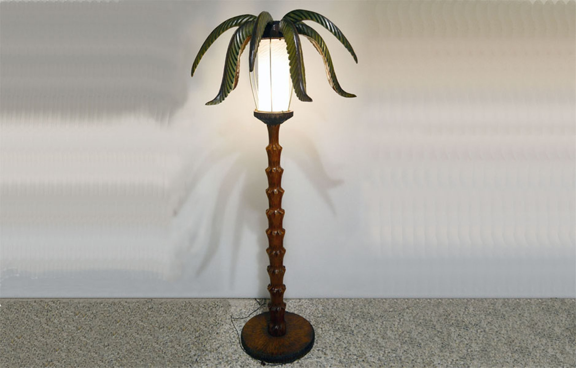Wooden Palm Tree Floor Lamp 1950s For Sale At Pamono