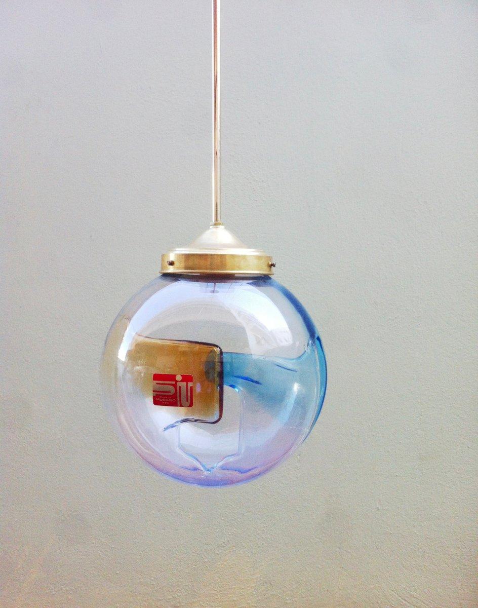 Vintage Membrane Murano Glas Hängelampe von Toni Zuccheri für Venini