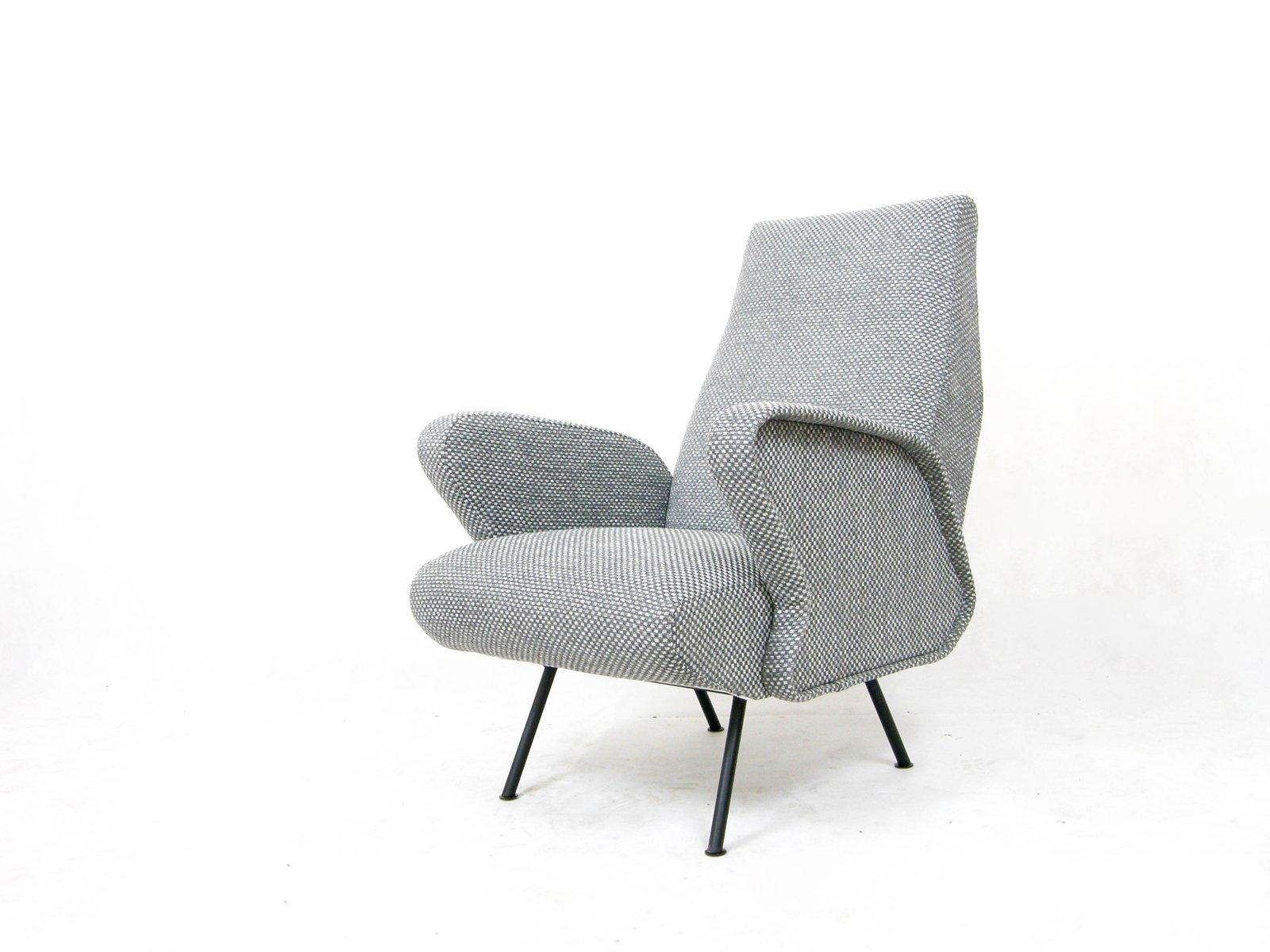 Italienischer Grauer Sessel, 1950er