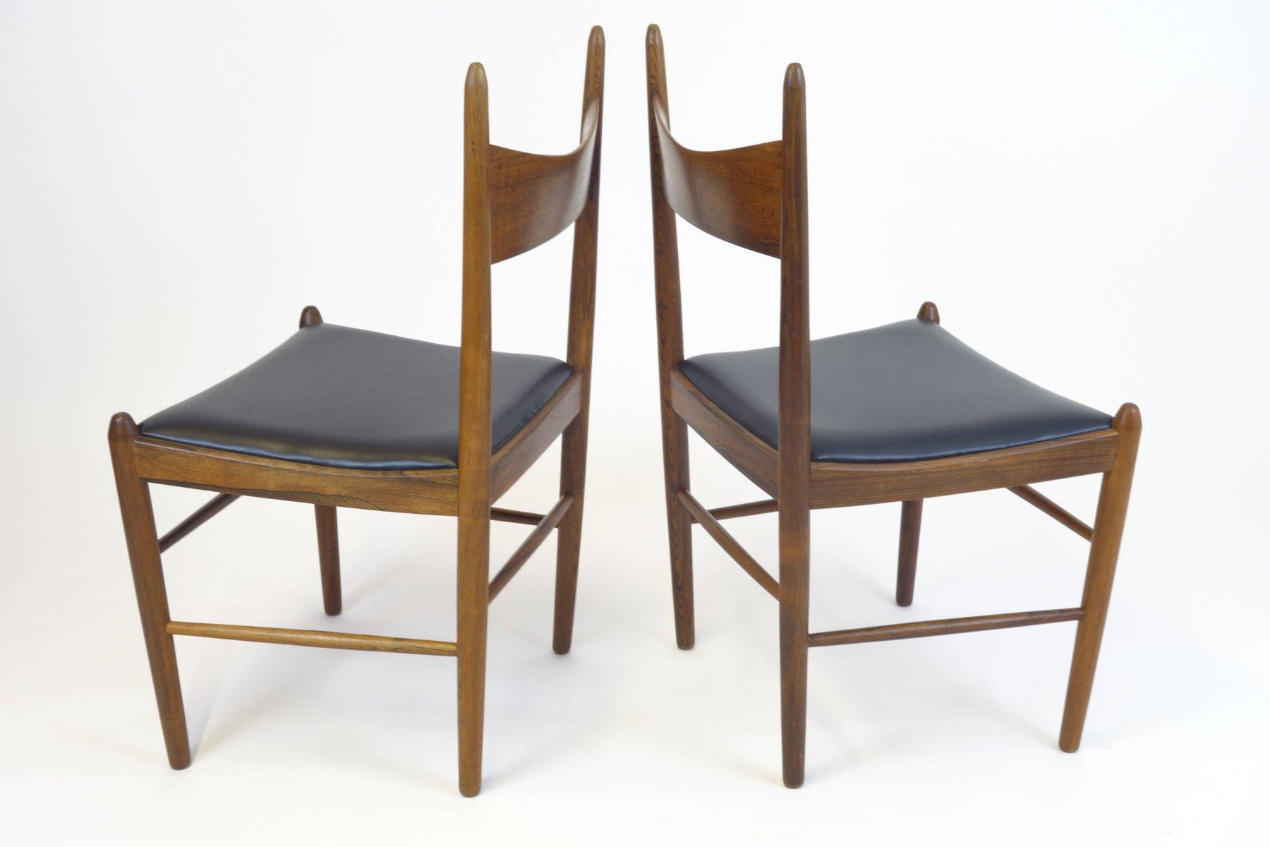 esszimmerst hle von illum wikkelso f r vestervig eriksen 1960er 4er set bei pamono kaufen. Black Bedroom Furniture Sets. Home Design Ideas