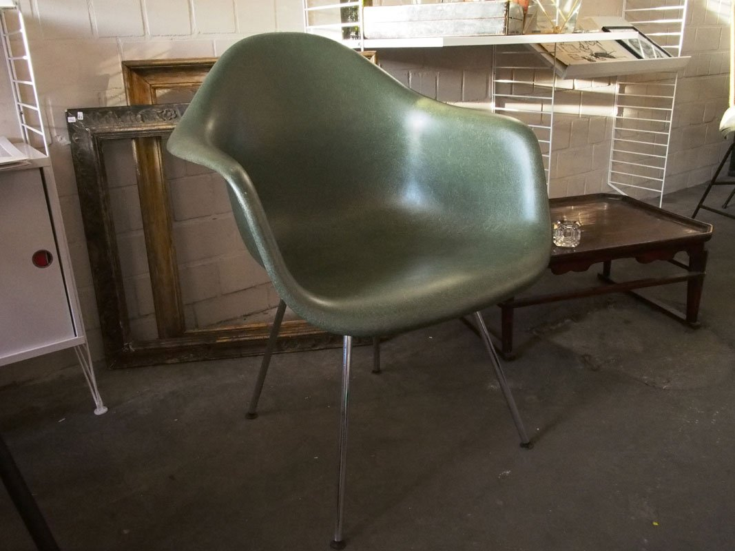 Vintage Green Fiberglass Chair By Charles U0026 Ray Eames For Vitra