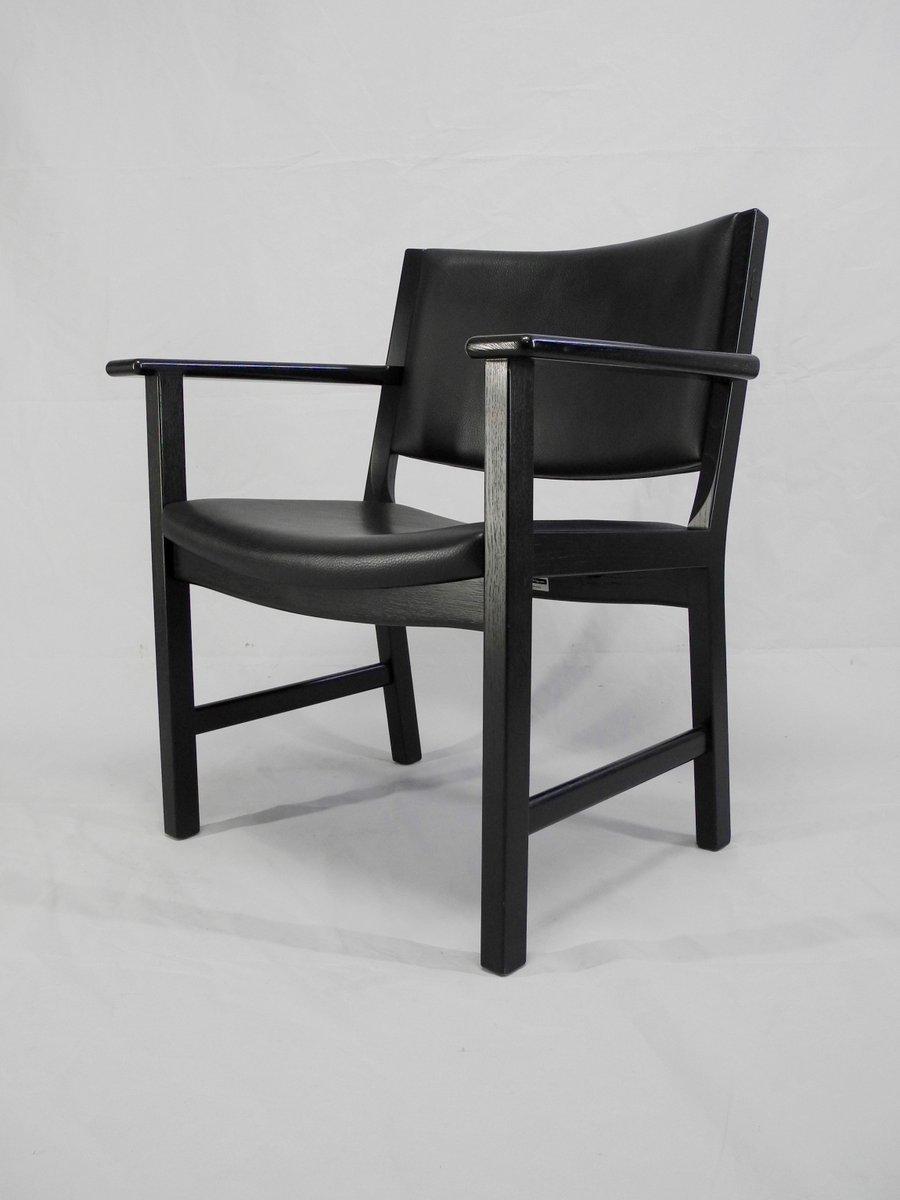 chaises jh 50 par hans j wegner for johannes hansen m belsnedkeri danemark 1980s set de 2 en. Black Bedroom Furniture Sets. Home Design Ideas