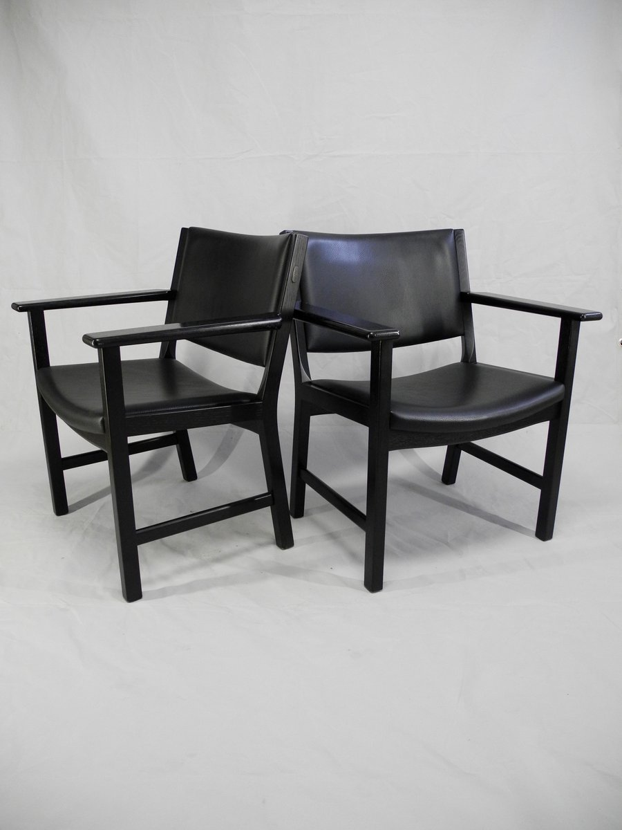 d nische jh 50 st hle von hans j wegner f r johannes hansen m belsnedkeri 1980er 2er set bei. Black Bedroom Furniture Sets. Home Design Ideas