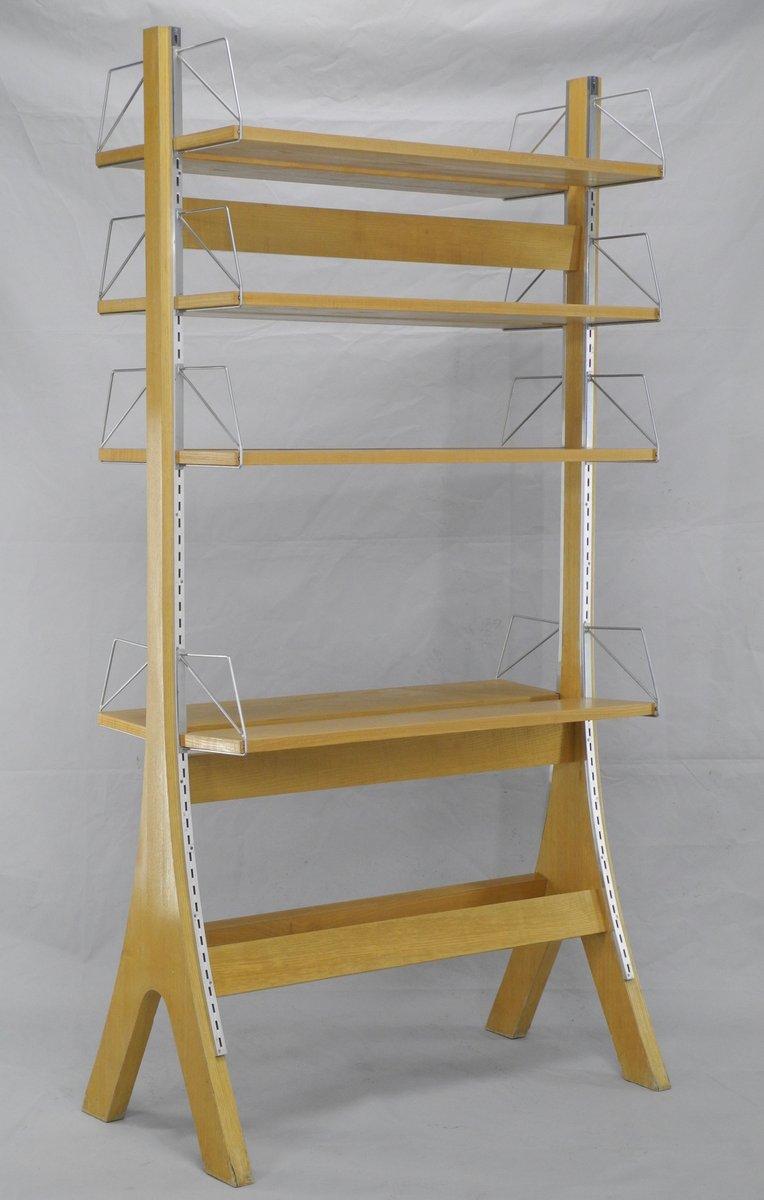 Vintage Small Oak Free Standing Book Shelf