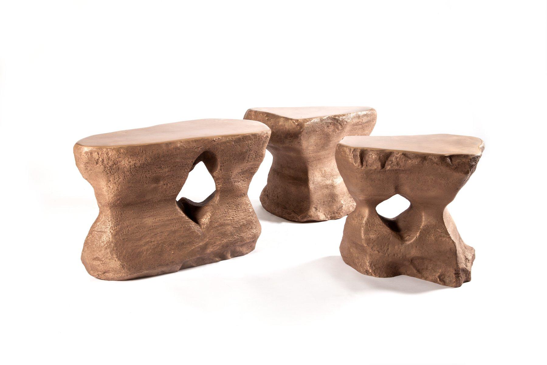 Couchtisch in Bronze von Studio Superego, 3er Set