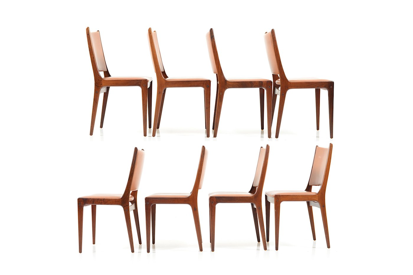 Rosewood Dining Chairs By Johannes Andersen For Uldum Møbelfabrik 1960s Set Of 6