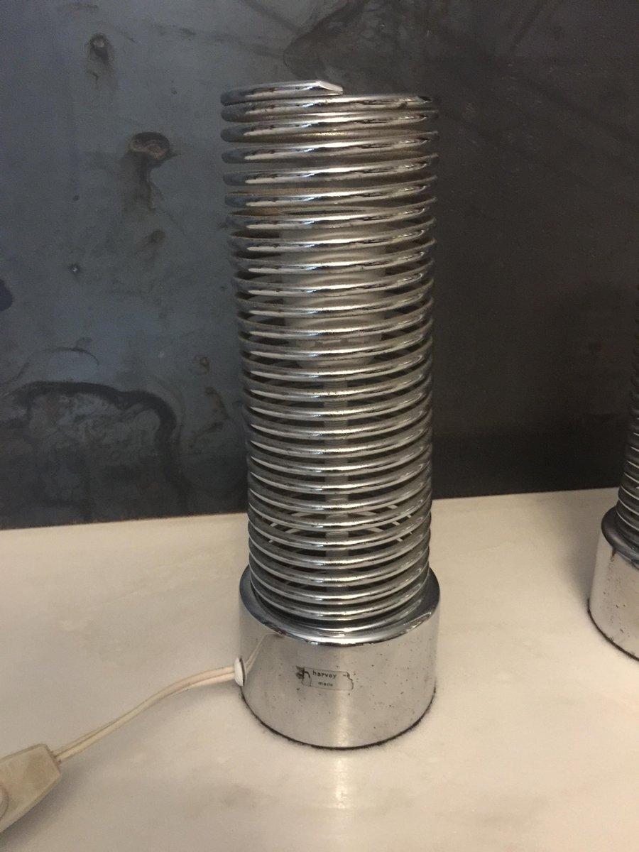 Vintage Jo-Jo Tischlampen von Harvey Guzzini für Guzzini, 2er Set