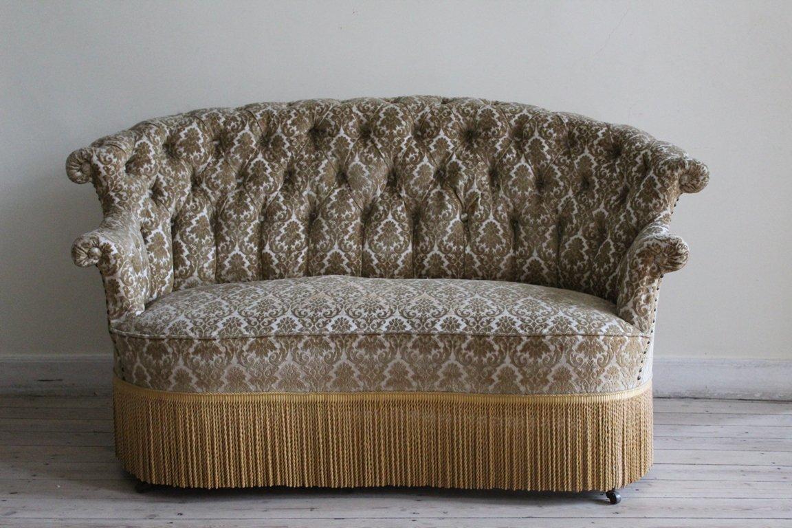 Antikes Napoleon III Zwei-Sitzer Sofa