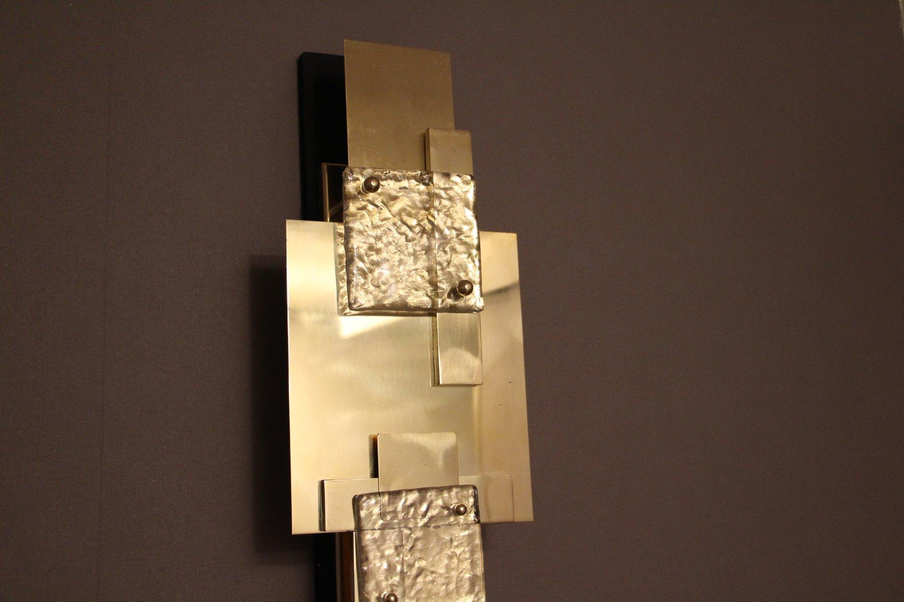 Lampade da parete lunghe vintage in ottone lucidato set for Saldi lampade design
