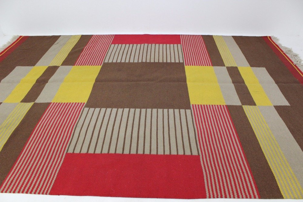 gro er moderner geometrischer teppich von antonin kybal 1950er bei pamono kaufen. Black Bedroom Furniture Sets. Home Design Ideas