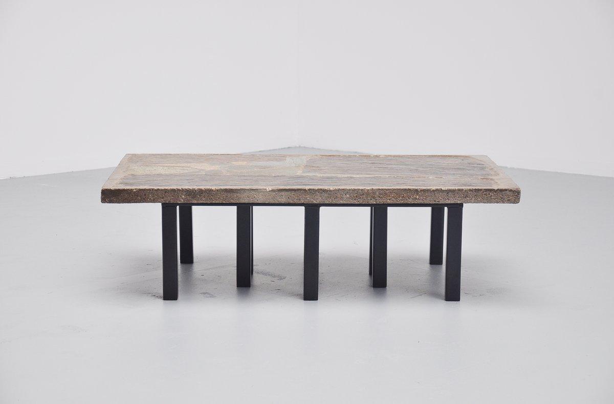 rechteckiger couchtisch aus stein beton von paul kingma 1963 bei pamono kaufen. Black Bedroom Furniture Sets. Home Design Ideas