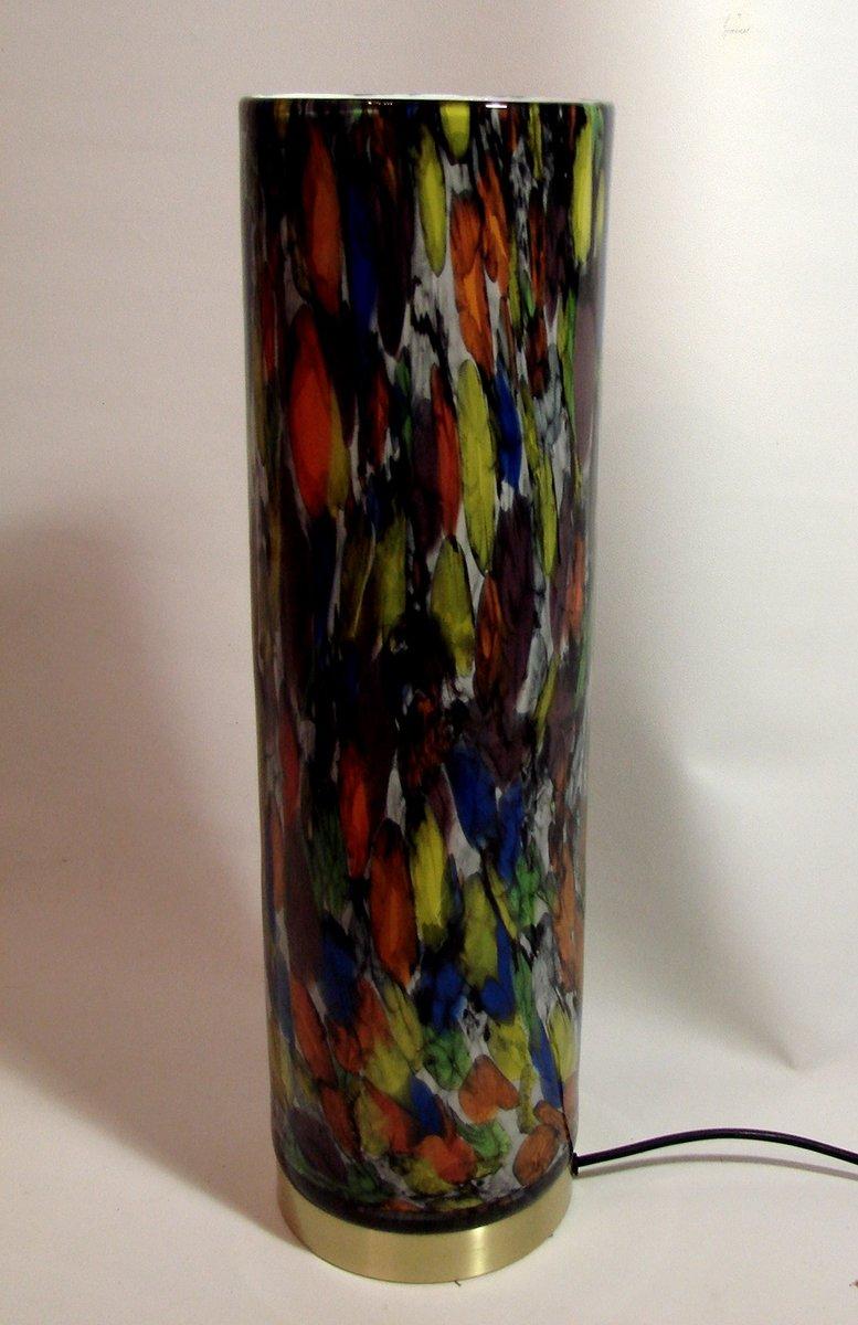 Italienische Bunte Glas Lampe, 1980er