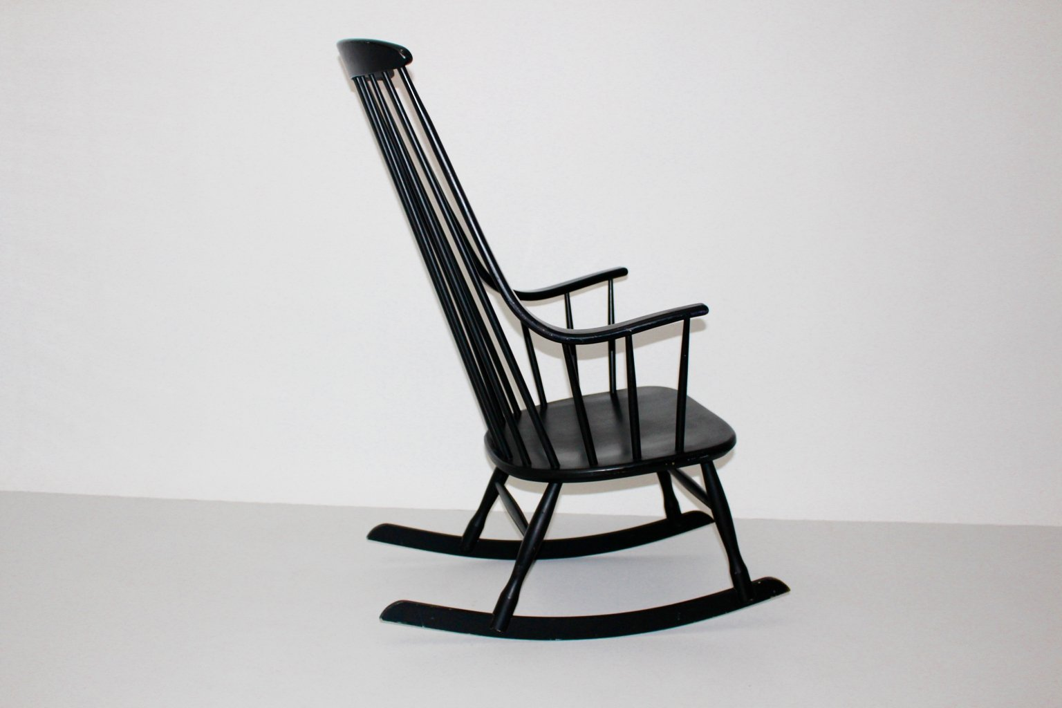 black grandessa rocking chair by lena larsson for nesto 1960s for sale at pamono. Black Bedroom Furniture Sets. Home Design Ideas
